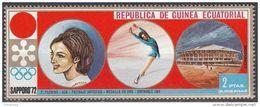 28 Guinea Equatoriale 1972  Sapporo Oro Grenoble P. Fleming Pattinaggio Artistico Equatorial - Pattinaggio Artistico