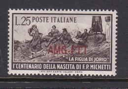 Trieste Allied Military Government S 129 1951 Birth Centenary Of Michetti, MNH - 7. Trieste
