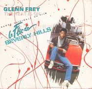 45 TOURS GLENN FREY BOF LE FLIC DE BEVERLY HILL MCA 259179  THE HEAT IS ON / SHOOT OUT - Soundtracks, Film Music