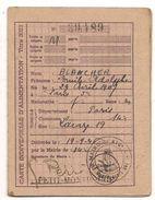 FRANCE - 1946 CARTE INDIVIDUELLE D´ALIMENTATION - COMUNE DE PETIT-MONTROUGE -  Joints Utilisés - Documentos Históricos