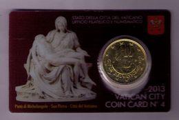 VATICANO 2013 - COIN CARD Nº 4 MICHELANGELO - Vaticano (Ciudad Del)