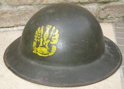 "Repro Coque De Casque ""Free Polish Army"" - 1939-45"