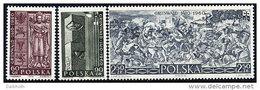 POLAND 1960 Battle Of Grünwald Set Of 3 MNH / **  Michel 1174-76 - 1944-.... Republic