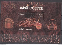 INDIA,  2017,  COFFEE, Miniature Sheet, MNH(**). - Food