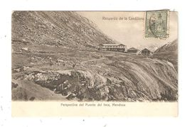 CPA Argentine MENDOZA Perpspectva Del Puente Del Inca Recuerdo De La Cordillera - Argentine