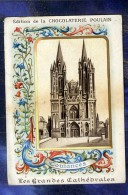 Chromo Poulain Cathedrale De Coutances Enluminures Cathedral N°3 Old Trade Card - Poulain