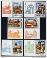 ROMANIA 2002 Fortress Churches In Transylvania  With Labels MNH / **.  Michel 5649-54 Zf - 1948-.... Republics