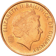 Guernsey, Elizabeth II, Penny, 1998, Heaton, TTB+, Copper Plated Steel, KM:89 - Guernesey