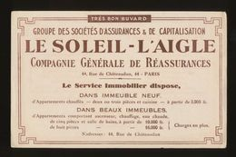 Buvard -  Banques-Assurances -LE SOLEIL - L'AIGLE -- COMPAGNIE GENERALE DE REASSURANCES - Blotters