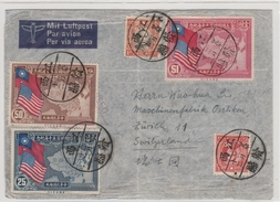 China-U.S.A. Flugpost-Brief CHUNGKING - Zürich/Schweiz - China