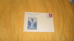 CARTE SOUVENIR DE L'INAUGURATION DU MONUMENT ALBERT 1ER. / PARIS 12 OCTOBRE 1938. / CACHET + TIMBRE - Marcofilia (sobres)