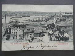 Cartolina Costantinople Vue Generale Corne D'Or Viaggiata Posta Francese 1902 - Postales