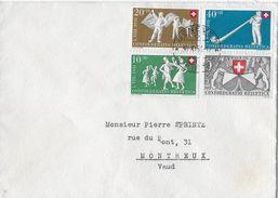 PRO PATRIA  → 1951 Brief Mit Kompl.Satz Nach Montreux   ►GENÈVE 30.XI.51◄ - Pro Patria
