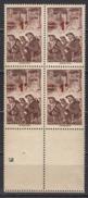 FRANCE 1941 - BLOC DE 4 TP Y.T. N° 489 - NEUFS** - France