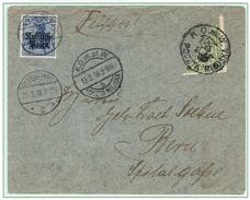 WARSZAWA - VARSOVIE - Poste Locale Lettre Demi-timbre Oblitération 19 Février 1916 Michel N° 8 Pour Berne - ....-1919 Provisional Government