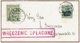 WARSZAWA - VARSOVIE - Poste Locale Lettre Port Payé (WRECZENIE OPLACONE) 26 Novembre 1915 Michel N° 8 - ....-1919 Provisional Government