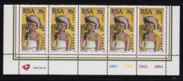 RSA, 1996, MNH Stamps In Control Blocks, MI 1022, World Post Day X743 - South Africa (1961-...)