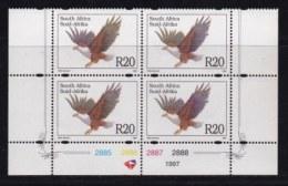 RSA, 1997, MNH Stamps In Control Blocks, MI 1037, Defitive Bird 20 Rand, X745 - South Africa (1961-...)