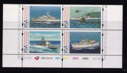 RSA, 1997, MNH Stamps In Control Blocks, MI 1043-1046, S.A. Navy, X720 - South Africa (1961-...)