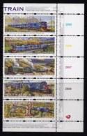 RSA, 1997, MNH Stamps In Control Blocks, MI 1074-1078, Blue Train, X747 - South Africa (1961-...)