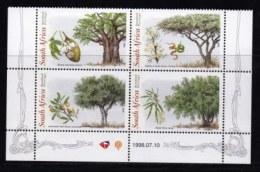 RSA, 1998, MNH Stamps In Control Blocks, MI 1155-1158, Trees Week, X719A - Ongebruikt