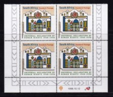RSA, 1998, MNH Stamps In Control Blocks, MI 1183, Human Rights, X717A - South Africa (1961-...)