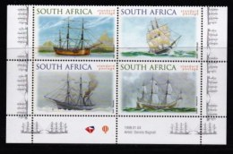RSA, 1999, MNH Stamps In Control Blocks, MI 1189-1192, Australian Ships, X739 - South Africa (1961-...)