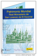 SPANJE - BLISTER 2 € COM. 2013 UNC + POSTZEGEL - KLOOSTER EL ESCORIAL - Espagne