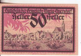 301-Banconote-Carta Moneta Di Emergenza-NOTGELD-Austria-Osterraich-Emergency Money-50 Heller-rosso-1920. - Autriche