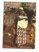 Cp, CONGO BRAZZAVILLE , Jeune Femme BABEMBE , Case Faite En Végétal , Voyagée 1967 - Congo - Brazzaville