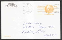 United States - Scott #UX74 Used - Interi Postali