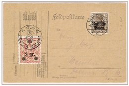 WARSZAWA - VARSOVIE - Poste Locale Carte Militaire 6 Février 1916 Michel N° 9 - ....-1919 Provisional Government