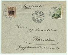 WARSZAWA - VARSOVIE - Poste Locale Lettre Demi Timbre 7 Mars 1916 Michel N° 10 - ....-1919 Gouvernement Provisoire