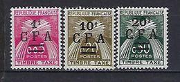 """Reunion Taxe YT 45 à 47 """" Gerbes """" 1962 à 64 Neuf* - Reunion Island (1852-1975)"""