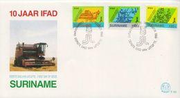 Surinam Set On FDC - Agriculture