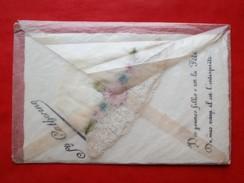 Cp Fantaisie Brodee Sainte Catherine Avec Son Enveloppe D Origine - Brodées