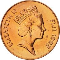 Fiji, Elizabeth II, 2 Cents, 1992, SUP, Copper Plated Zinc, KM:50a - Fidji