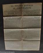 Quotidiano Economia Corporazioni Finanza Italia Notari Autarchia 1938 - Libri, Riviste, Fumetti