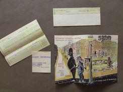 Pieghevole Pubblicità Agenzia Kosmos Informazioni Commerciali Milano 1952 - Vieux Papiers