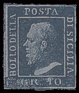 A.S.I. - Sicilia: Effige Di Ferdinando II - 10 Gr. Azzurro Cupo - 1859 - Sicilia