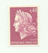 1536B - Type Marianne De Cheffer -0.40 Rouge (1967-69) - 1967-70 Marianne Of Cheffer
