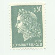 1536A - Type Marianne De Cheffer -0.30 Vert (1967-69) - 1967-70 Marianne Of Cheffer