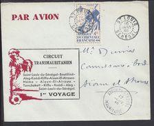 """A.O.F. 1946  """"Circuit Transmauritanien, 1er Voyage"""" Enveloppe De Saint Louis Pour Aioun-El-Atrouss - TB - - Lettres & Documents"""