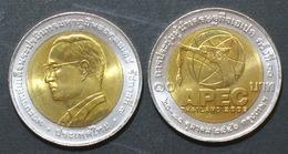 Thailand Coin 10 Baht Bi Metal 2003  APEC Summit  Y400 UNC - Thailand