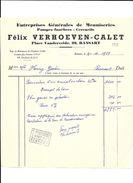 RANSART  Félix Verhoeven - Calet   ( Entreprise De Menuiseries ,  Pompes Funèbres ) - Belgique