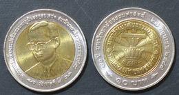 Thailand Coin 10 Baht Bi Metal 2004 70th Thammasat University Y410 UNC - Thailand