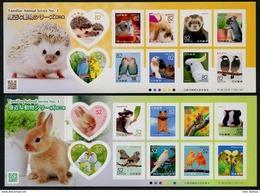 Japan 2016 Familiar Animals Birds Hedgehog 2 Minisheets MNH - Postzegels
