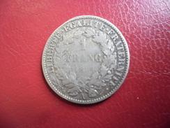 1 FRANC CERES ARGENT 1894 @ F. 216.12 - Francia