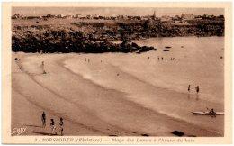 29 PORSPODER - Plage Des Damess à L'heure Du Bain    (Recto/Verso) - France