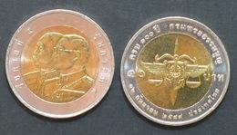 Thailand Coin 10 Baht Bi Metal 2006 100th Constitution Department Y432   UNC - Thailand